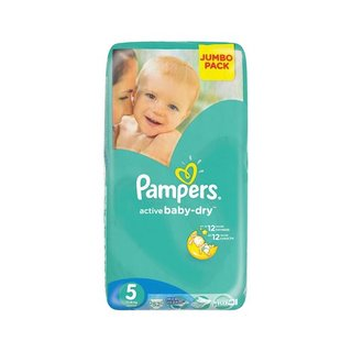 Pampers Active Baby Nappies Junior Jumbo Pack 52s x 2