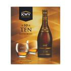 KWV 10YR Brandy & 2 Glasses Gift Pack 750ml