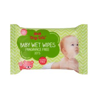 PnP Tiny Tots Baby Wet Wipes Fragrance Free 20s