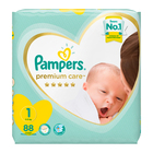 Pampers Premium Care Nappies Size 1 88s