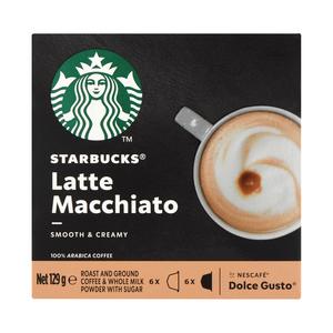 Starbucks® Latte Macchiato by Nescafé® Dolce Gusto® Coffee Capsules box of 12