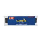 Garbie Black Refuse Bags 50 Per Roll
