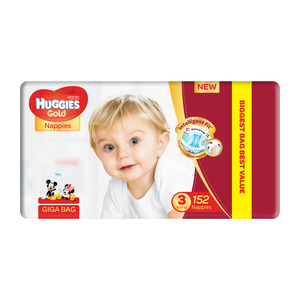 HUGGIES UNISEX GIGA BAG S3 152EA