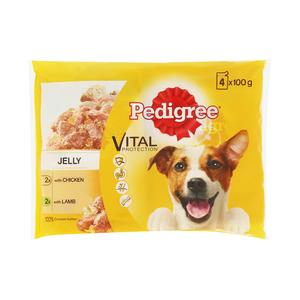 Pedigree Dog Food Chicken & Lamb In Jelly 100g 4ea