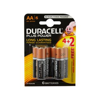 Duracell Batteries Power Plu s AA 4+2 6