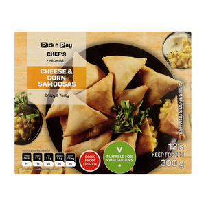 PnP Sweetcorn & Cheese Samoosas 12s