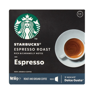 Starbucks® Espresso Roast by Nescafé® Dolce Gusto® Dark Roast Coffee Capsules box of 12