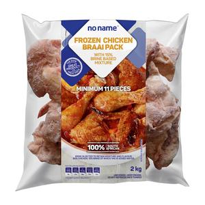 No Name Frozen Chicken Braaipack with Brine-based Mixture 2kg