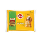 Pedigree Dog Food Chicken & Beef With Veg 4ea