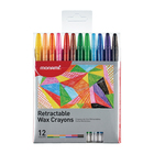 Monami Retractable Wax Crayons 12ea