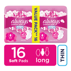 Always Ultra Sanitary Pads Long 16s
