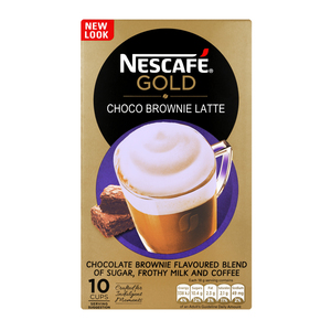 Nescafe Gold Choco Brownie Latte Sachets 10s