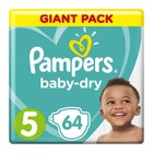 Pampers Baby-Dry Size 5 Giant Pack, 64 Nappies