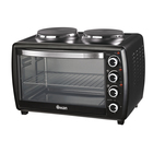 Swan Compact Oven With 2 Solid Hotplates