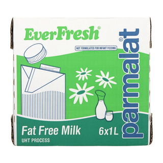 Everfresh Long Life Fat Free Milk 1l x 6