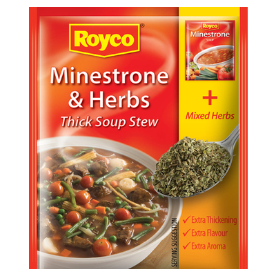 royco minestrone and herbs soup 50g each unit of measure pick