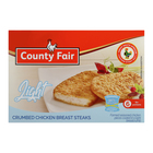 County Fair Light Crumbed Chicken Breast Steaks 400g