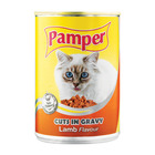 Purina Pamper Lamb Cuts in Gravy Tinned Cat Food 385g