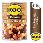 Koo Four Bean Mix in Brine 410g