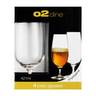 O2 Beer Glass 421ml 4 Pack