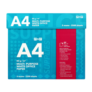 PnP A4 Multipurpose White Office Paper 500 sheets x 5