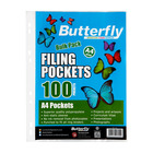 Butterfly Plastic Sleeves Filing Pockets 100s