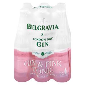 Belgravia Gin & Pink Tonic NRB 275ml x 6