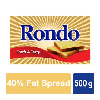 Rondo Medium Fat Spread Brick 500g