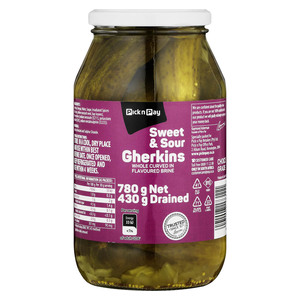 PnP Sweet And Sour Gherkins 740g
