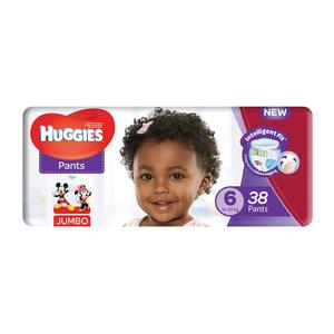 HUGGIES UNISEX JUMBO SIZE6 38EA
