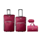 Elite 4 Piece Travel Set Red