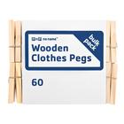 PnP No Name Wooden Clothes Pegs 60ea