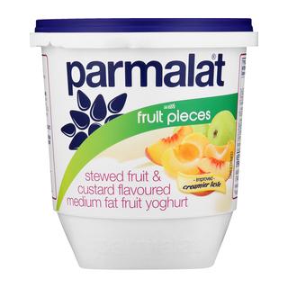 Parmalat Low Fat Stewed Fruit & Custard Yoghurt with Fruit Pieces 1kg