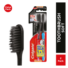 Colgate Slim Soft Charcoal Toothbrush 2 Pack