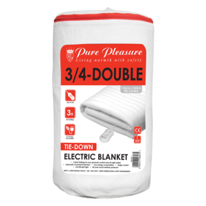 Pure Pleasure 3/4 Double Non Fitted Electric Blanket 110x150cm