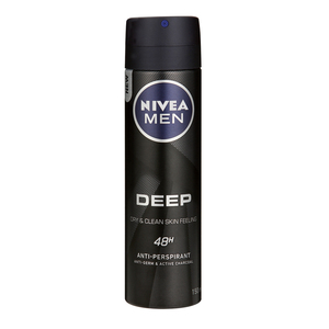 NIVEA FOR MEN DEODORANT SPRAY DEEP 150ML