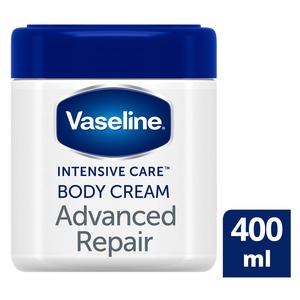 Vaseline Advanced Repair Fragrance Free Moisturising Body Cream 400ml