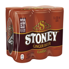 Stoney Ginger Beer 300ml Can x 6