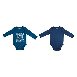 Baby Boys Bodyvest 2 Pack New Born Teal and Indigo