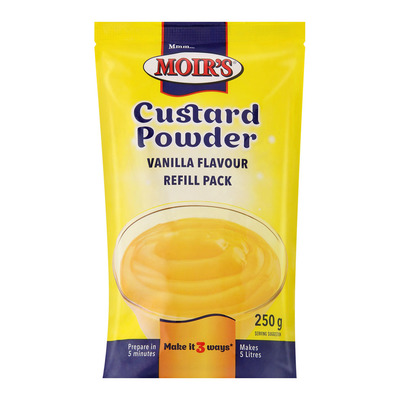 Moir's Custard Powder Refill 250g | each | Unit of Measure | Pick n
