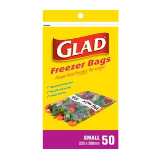 Glad Small Freezer Bags 230 X 300Mm 50