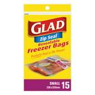 Glad Small Zipper Freezer Ba gs 15