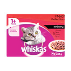 Whiskas Multipk Meat In Gr 12x85g