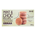 PnP Choc Duo Mint Biscuits 200gr