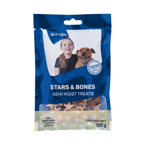 PnP Pet Semi Moist Treats Stars & Bones 120gr