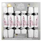 Santa's Village Crackers Metal 12in 12ea