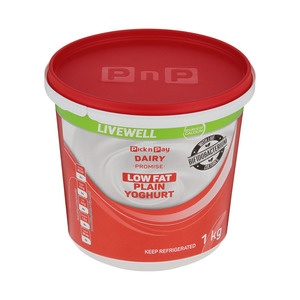 PnP Low Fat Plain Yoghurt 1kg