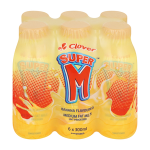 Super M Banana Flavoured Drink 300ml x 6