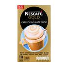Nescafe Gold White Choc Cappuccino Sachets 10s