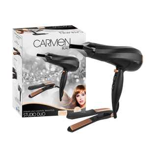 Carmen Amber Studio Duo Hairdryer & Stra Aightener Set